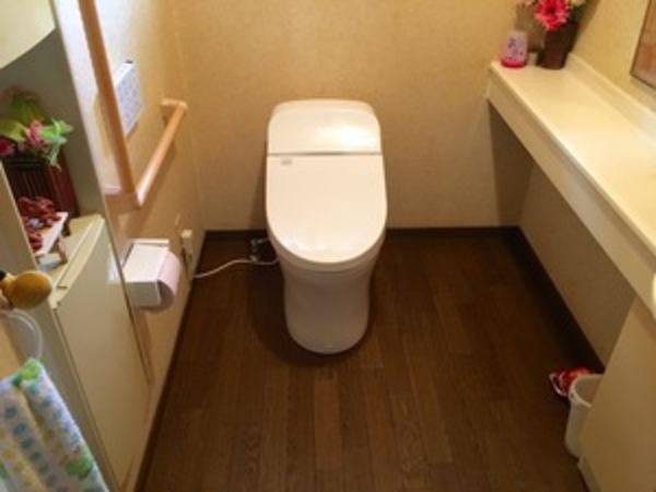 鹿屋市S様邸~トイレ床貼替から洋便器の取り替え半日で 終了!サムネイル